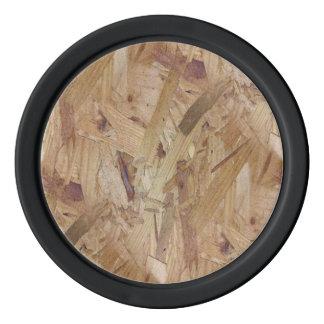 さまざまな茶色色の削片板 ポーカーチップ