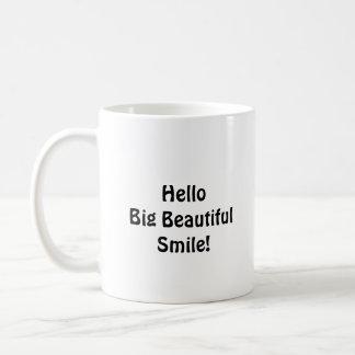 さようならこんにちは大きく美しいスマイルを固定します コーヒーマグカップ