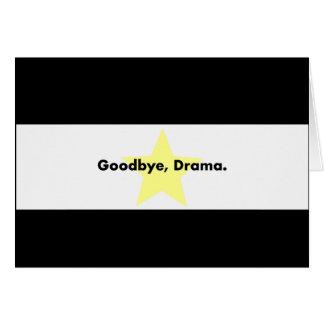 さようなら、戯曲カード グリーティングカード