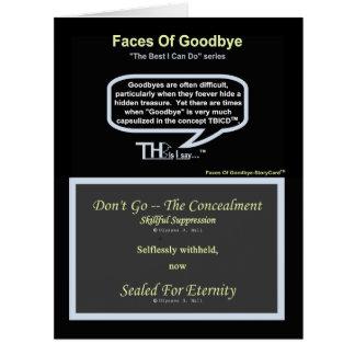さようなら-熟練した抑制の紺碧の顔 カード