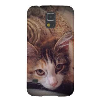 さらさのかわいこちゃんの子ネコのSamsung s5の電話箱 Galaxy S5 ケース