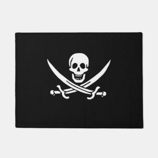 さらさのジャックRackhamの海賊旗の玄関マット ドアマット