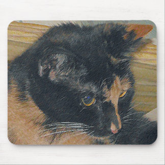 さらさの子ネコの顔 マウスパッド