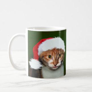 さらさの子猫のクリスマスの詐欺 コーヒーマグカップ
