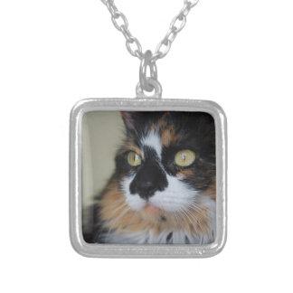 さらさの子猫のネックレス シルバープレートネックレス