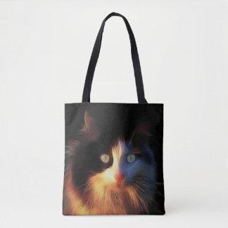さらさの子猫猫の顔 トートバッグ