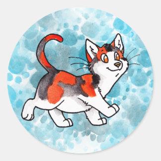 さらさの子猫 ラウンドシール