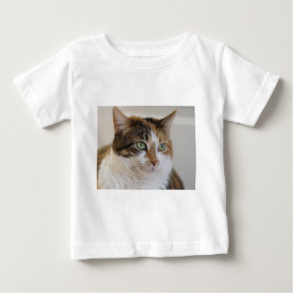 さらさの虎猫猫の顔 ベビーTシャツ