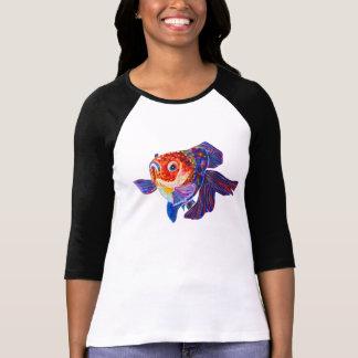 さらさのVeiltailの金魚のデザインのTシャツ Tシャツ