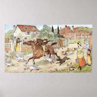 しかしジョンGilpinの乗馬村 ポスター