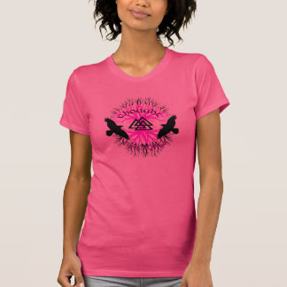 しかし女性ピンクおよび記憶ワイシャツ Tシャツ