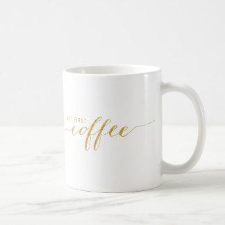 しかし最初コーヒー模造のなグリッターの紙吹雪のマグ コーヒーマグカップ
