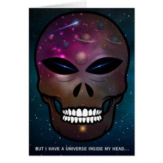 しかし私に私のヘッド空白のなカードの中の宇宙があります カード