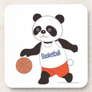 したたっているパンダのバスケットボール選手 コースター