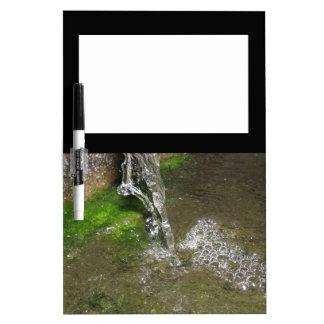 したたる滝泡立つ水メモ板 ホワイトボード