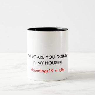 しているである何私の家でか。! 、Hauntings19… ツートーンマグカップ