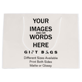 """して下さいそれをあなた自身-ギフトバッグ大きい12.5の"""" x4 """" x9 """" ラージペーパーバッグ"""