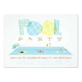 しぶきのプールを囲んでのパーティ カード