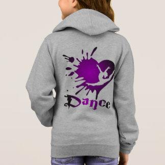 しぶきの体操の女の子の基本的なジッパーのフード付きスウェットシャツ スウェットシャツ