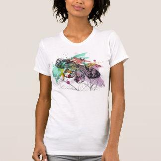 しぶきの蝶水彩画 Tシャツ