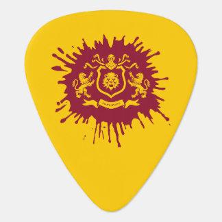 しぶきインクHeraldicライオンのギターピック ギターピック