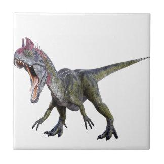 しゃがみ、とどろいているCryolophosaurus タイル