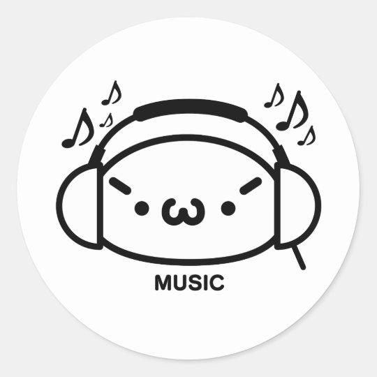 しゃきーんmusic ラウンドシール