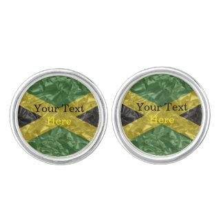 しわが寄るジャマイカの旗- カフスボタン