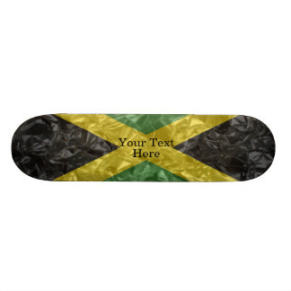 しわが寄るジャマイカの旗- スケートボード