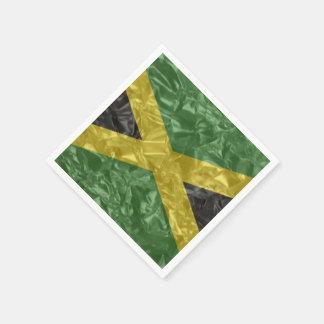 しわが寄るジャマイカの旗- スタンダードカクテルナプキン