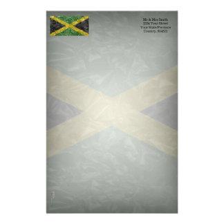 しわが寄るジャマイカの旗- 便箋