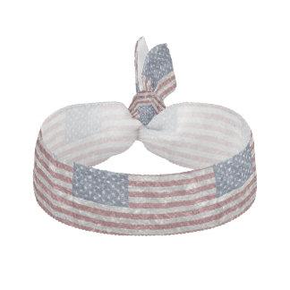 しわが寄る米国の旗- ヘアタイ