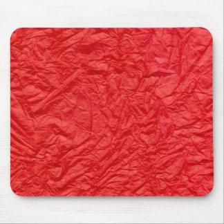 しわにされた赤の紙 マウスパッド