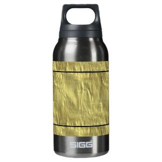 しわにされた金ゴールドホイルのクリスマスの包装紙 断熱ウォーターボトル