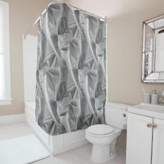 しわになる銀製灰色のLameの模造のな金属生地 シャワーカーテン