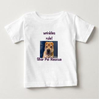 しわ4私達! Shar Peiのワイシャツ ベビーTシャツ