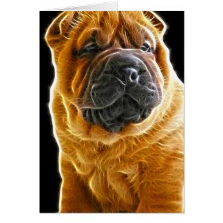 しわ、中国のなShar Peiの小犬 カード
