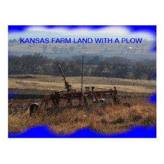 すきの郵便はがきが付いているカンザスの農地 ポストカード