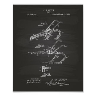 すき1893のパテントの芸術の黒板 ポスター