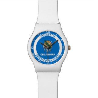 すぐにオクラホマの州の名前入りな旗 腕時計