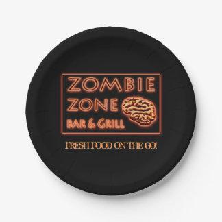 すぐに使えるハロウィンのゾンビの地帯の生鮮食品 ペーパープレート スモール