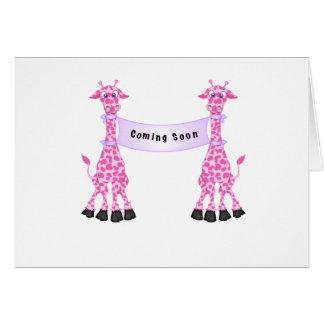 すぐに来ているピンクのキリン カード