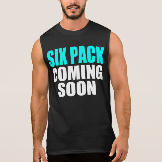 すぐに来る6パック 袖なしシャツ