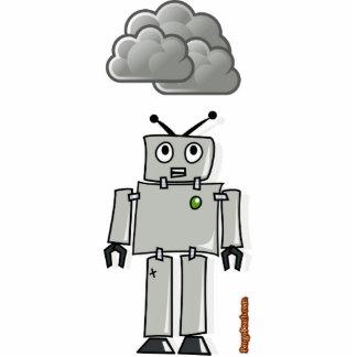 すぐに錆ついたロボットがあるため 写真彫刻(台付き)