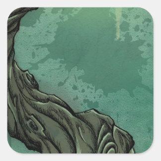 すごい木および三日月の月 スクエアシール