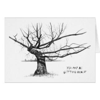 すごい木: より古くなること: 鉛筆の現実主義 カード