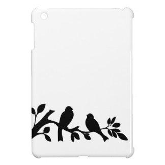 すずめのつばめの鳥の白黒のシルエット iPad MINIカバー
