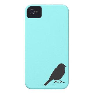 すずめのシルエットのシックで青いつばめの鳥 Case-Mate iPhone 4 ケース