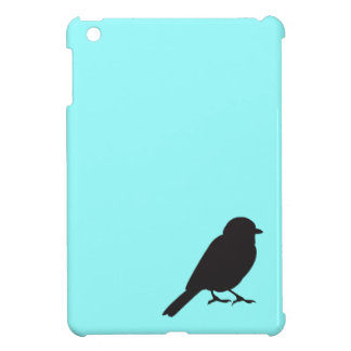 すずめのシルエットのシックで青いつばめの鳥 iPad MINIケース
