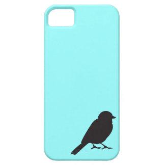 すずめのシルエットのシックで青いつばめの鳥 iPhone SE/5/5s ケース